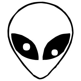 Vector de Rostro Alienigena