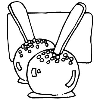Vector de Manzana Confitada