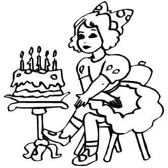 Vector de Torta Cumpleanos