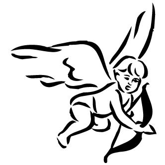 Vectores de Cupido Flechando