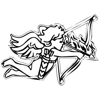 Vector de Cupido Flechando