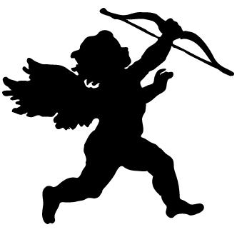Vector de Cupido Silueta