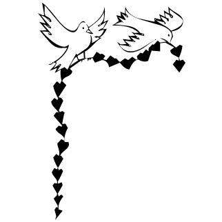 Vector de Palomas San Valentin
