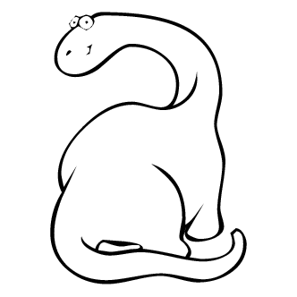 Vector de Brontosaurio