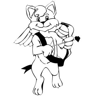 Vectores de Gatos De Amor