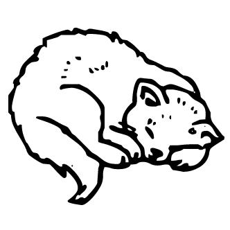 Vectores de Gatos Durmiendo