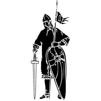 Vector de Caballero Con Armadura
