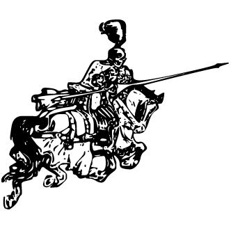 Vector de Gerrero Con Caballo