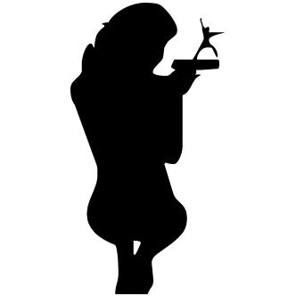 Vector de Mujer Armada