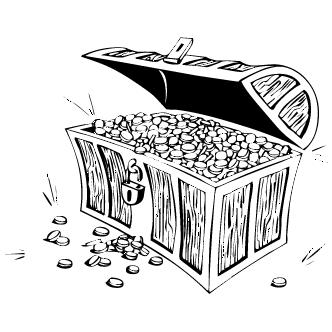 Vector de Cofre Del Tesoro