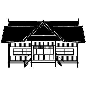 Vector de Asia Casa