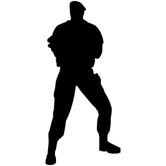 Vector de Silueta Super Heroe