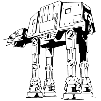 Vectores de At At - Todo Vector Lego Star Wars R2d2 Coloring Pages