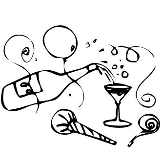 Vector de Champagne Botellas