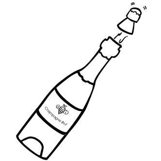 Vector de Champagne Botellas