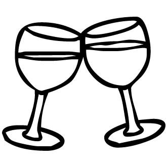 Vectores de Champagne Copas
