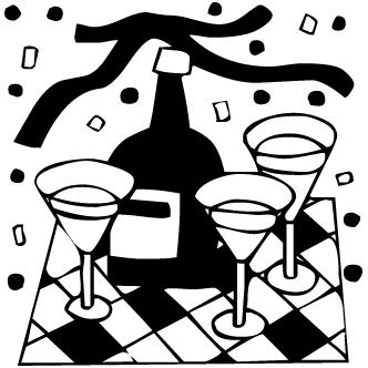 Vector de Champagne Copas