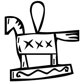 Vector de Caballo De Madera