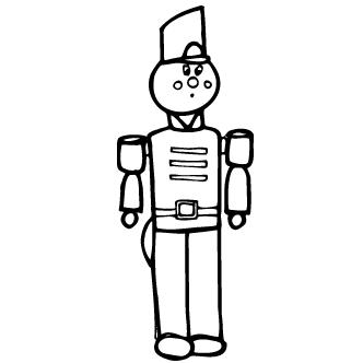 Vector de Soldado De Madera