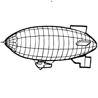 Vectores de Cepelin Dirigible