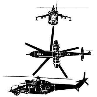 Vector de Helicpoteros