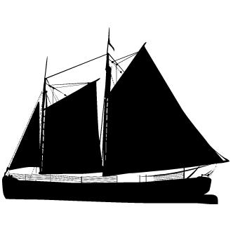Vector de Barco A Velas