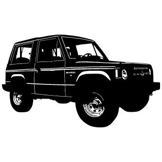 Vectores de Silueta Jeep