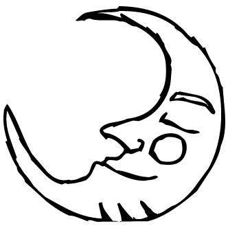 Vectores de Luna Con Cara