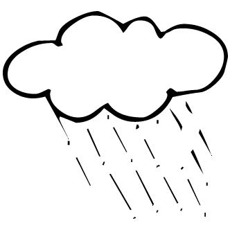 Vector de Nubes Con Lluvia