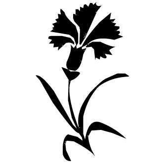 Vectores De Flores Abstractas Solas Con Tallo Todo Vector