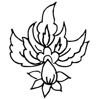 Vectores de Flores Abstractas Solas Sin Tallos