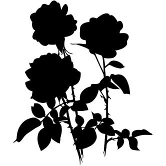 Vectores de Siluetas De Flores