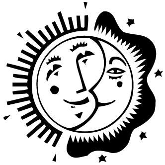 Vectores de Sol Y Luna