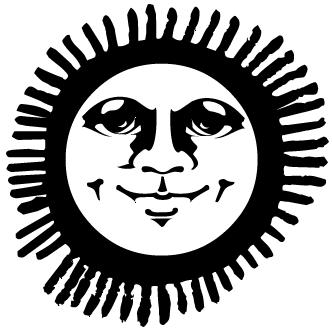 Vectores de Sol Con Cara