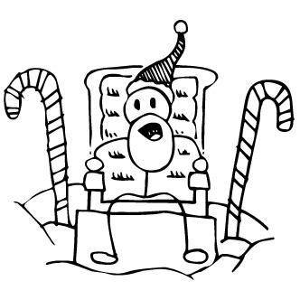 Vector de Baston De Navidad