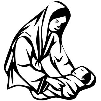 Vectores de Maria Y Jesus