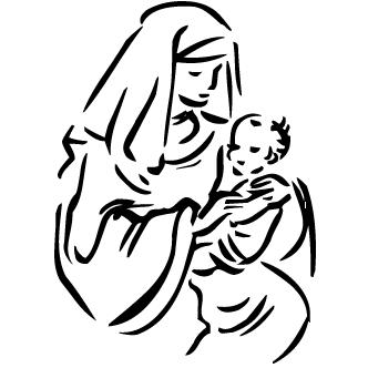 Vector de Maria Y Jesus