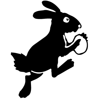 Vector de Conejo Con Huevos