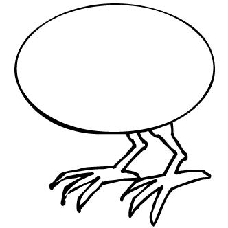 Vector de Huevo Con Patas