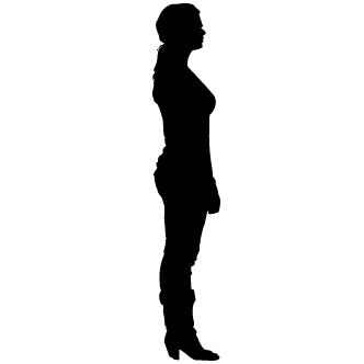 Vectores de Silueta De Mujer