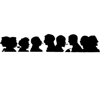 Vectores de Siluetas Rostros Elegantes