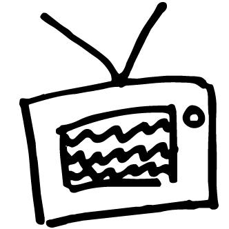 Vector de Tv