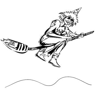 Vector de Bruja Volando