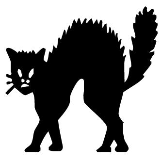 Vectores de Gatos De Terror